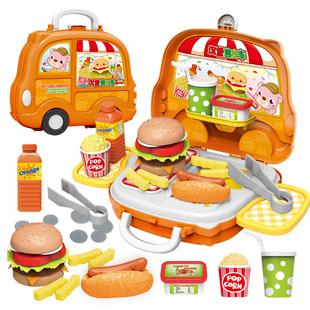 儿童过家家厨房玩具男女孩汉堡车