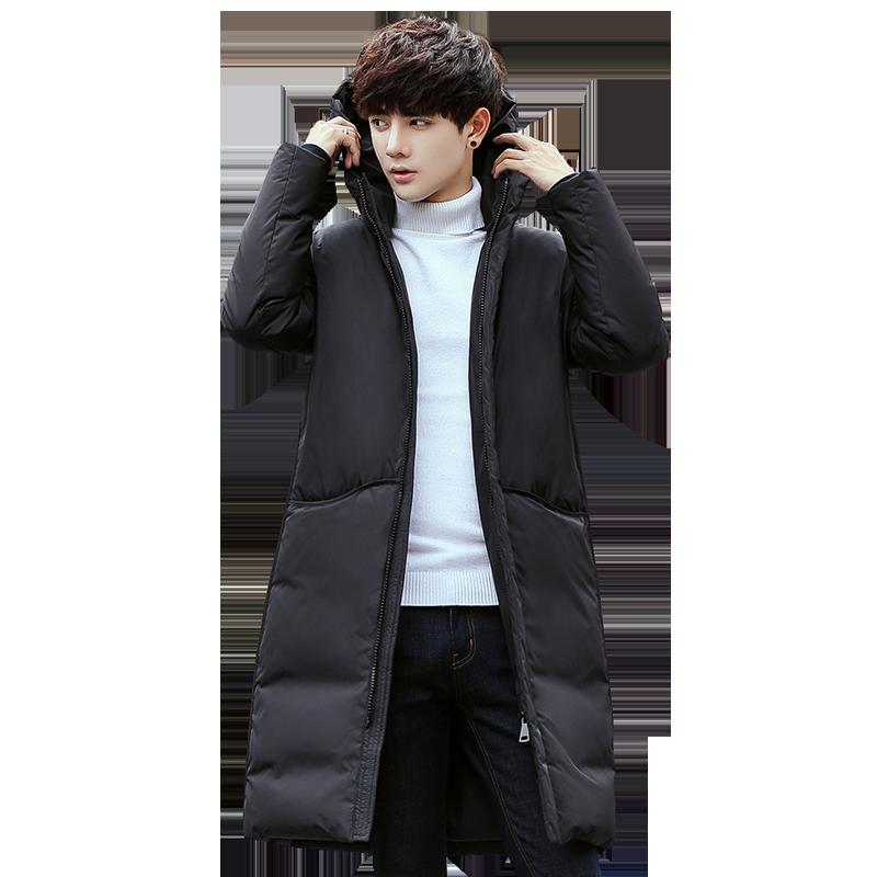 冬季韩版潮流中长款工装羽绒服