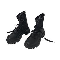 小sun家 马丁靴女英伦风厚底夏季薄款凉鞋2021新款镂空网纱中筒靴