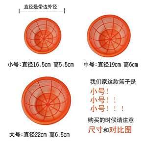 圆形小号迷你全新塑料洗米淘米水果篮箩筐筛子手工课玩具收纳篮子