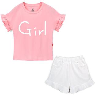 女童夏裝套裝洋氣兒童夏季網紅短褲12歲女孩大童女13童裝2020新款