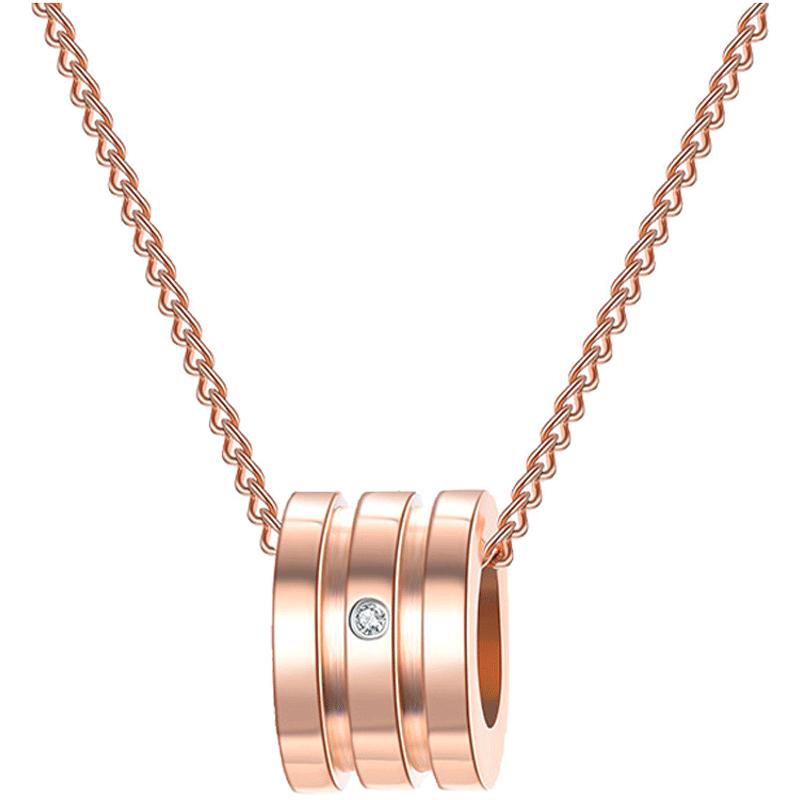 【预售6.30前发货】佐卡伊钻石项链小蛮腰钻石吊坠女真钻时尚款