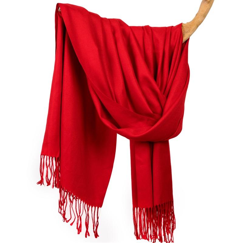 加长流苏定制仿羊绒围巾女冬季男士百搭大红披肩加厚保暖两用秋棉