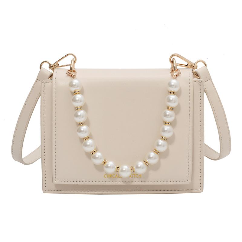 法国小众包包女2021新款潮时尚珍珠手提小方包高级百搭ins斜挎包
