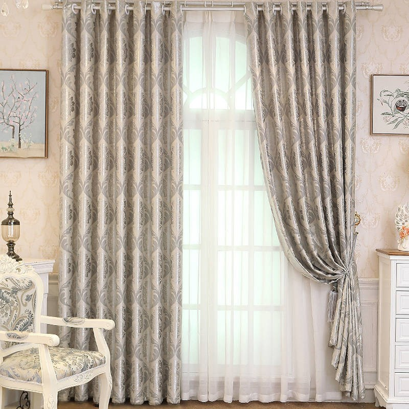 【】【还剩100件领券再减】提花窗帘成品遮光客厅卧室