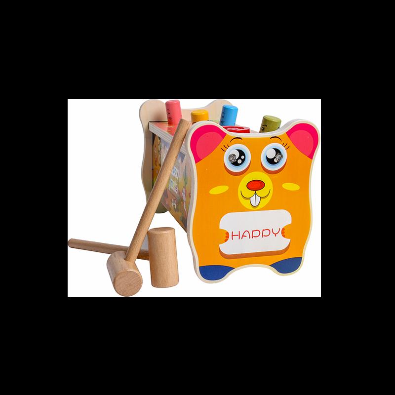 木质打地鼠幼儿益智力1-2岁3音乐敲打大号玩具男孩女孩
