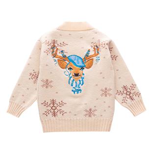 女童毛衣2019新款小女孩洋氣開衫兒童韓版春秋裝中大童針織外套潮