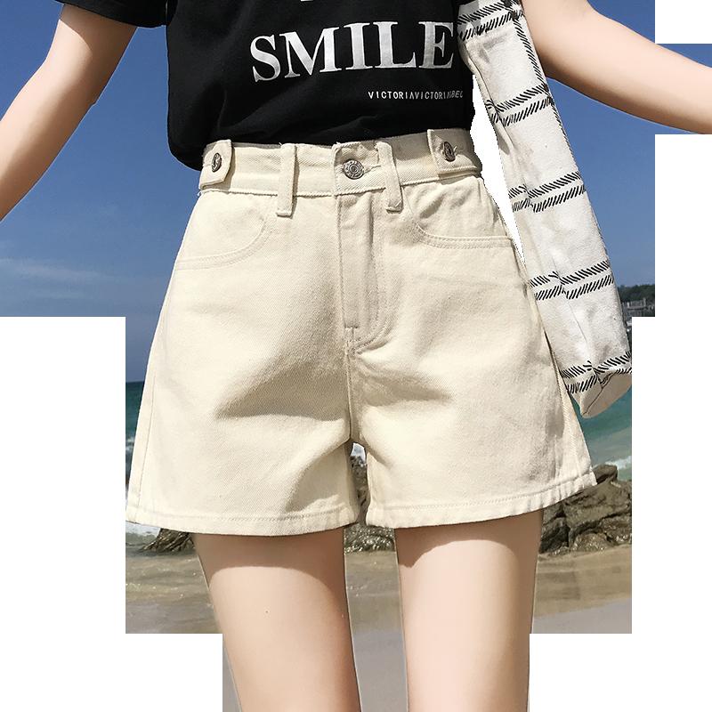 阔腿a字短裤热裤高腰chic韩版宽松学生百搭ins牛仔短裤女2019夏季