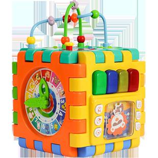 穀雨形狀配對六面盒玩具智力積木盒一歲半寶寶認知六面體早教玩具