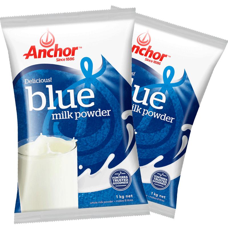 安佳全脂成人奶粉调制乳粉1KG*2袋