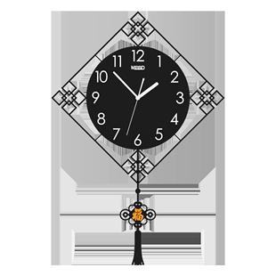 中式簡約現代鐘錶掛鐘客廳家用時尚裝飾時鐘石英鐘個性創意掛錶
