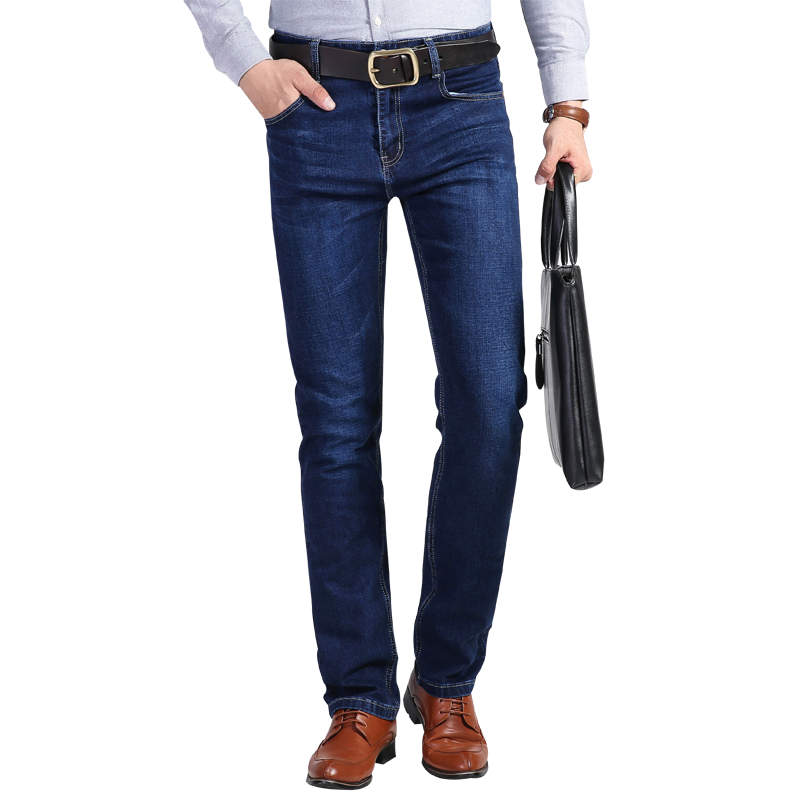【欧派盛】秋冬款男士商务直筒牛仔裤