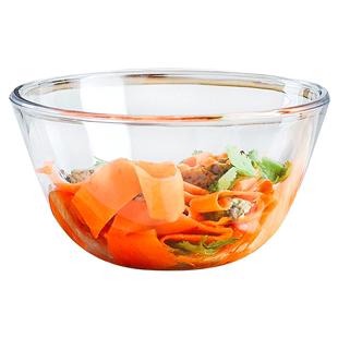 玻璃沙拉碗家用耐熱碗透明大號水果湯碗餐具盆透明烘焙泡和麪大碗