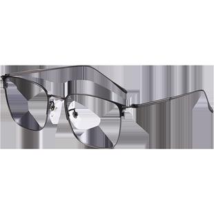 纯钛合金男黑框复古超轻近视眼镜框