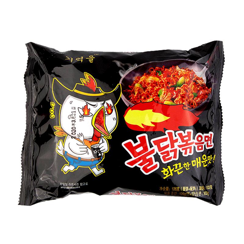 韩式超辣火鸡面食方便面拌面速食