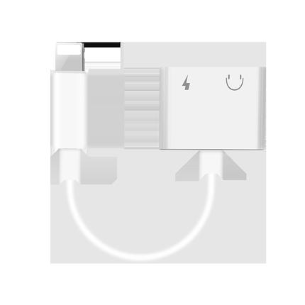 苹果7耳机转接头iphone/7/8/Xs Max/x/xr/plus手机转接线二合一充电听歌lightingxs转换头i7七八正品分线器7p