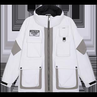 Lilbetter男士羽絨服 潮流個性冬裝短款外套輕薄修身日系羽絨外衣
