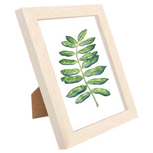 實木相框擺台掛牆木質6六七寸7 8寸加洗照片定製相冊擺件像框架