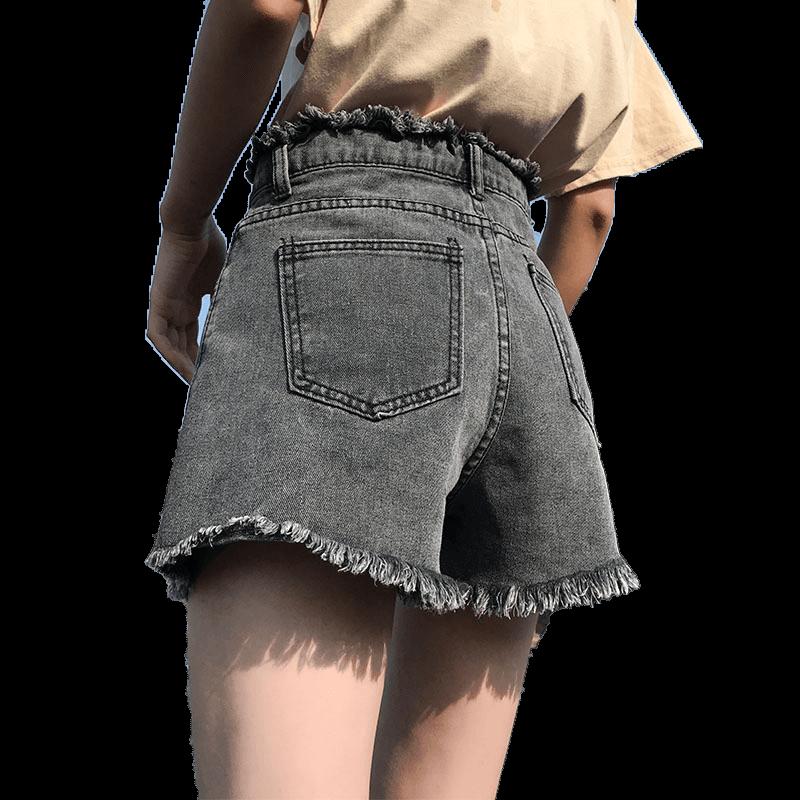 夏季韩版a字显瘦高腰牛仔短裤