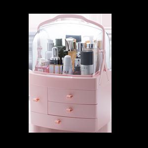 网红化妆品收纳盒家用口红护肤品置物架宿舍桌面防尘收纳神器