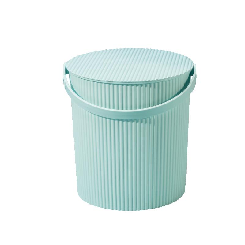 洗澡水桶凳塑料加厚可坐幼儿园家用浴室手提洗衣收纳桶带盖钓鱼桶