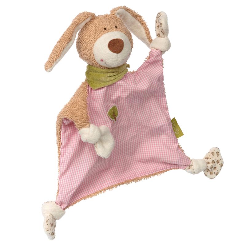 sigikid德国 婴儿安抚巾可入口啃咬睡眠陪伴不哭闹有机棉绿色材质