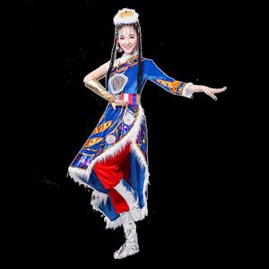 新款藏族女长裙藏袍广场舞演出服
