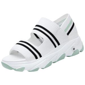 运动老爹ins潮2021年新款坡跟凉鞋