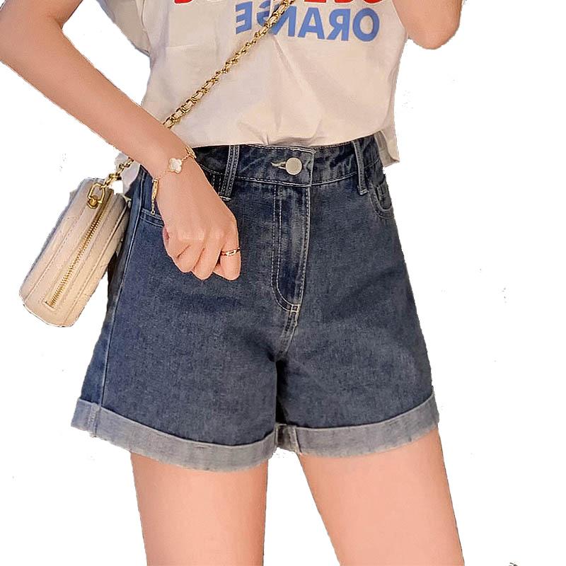 【zcq旗舰店】韩版高腰松紧牛仔短裤热裤