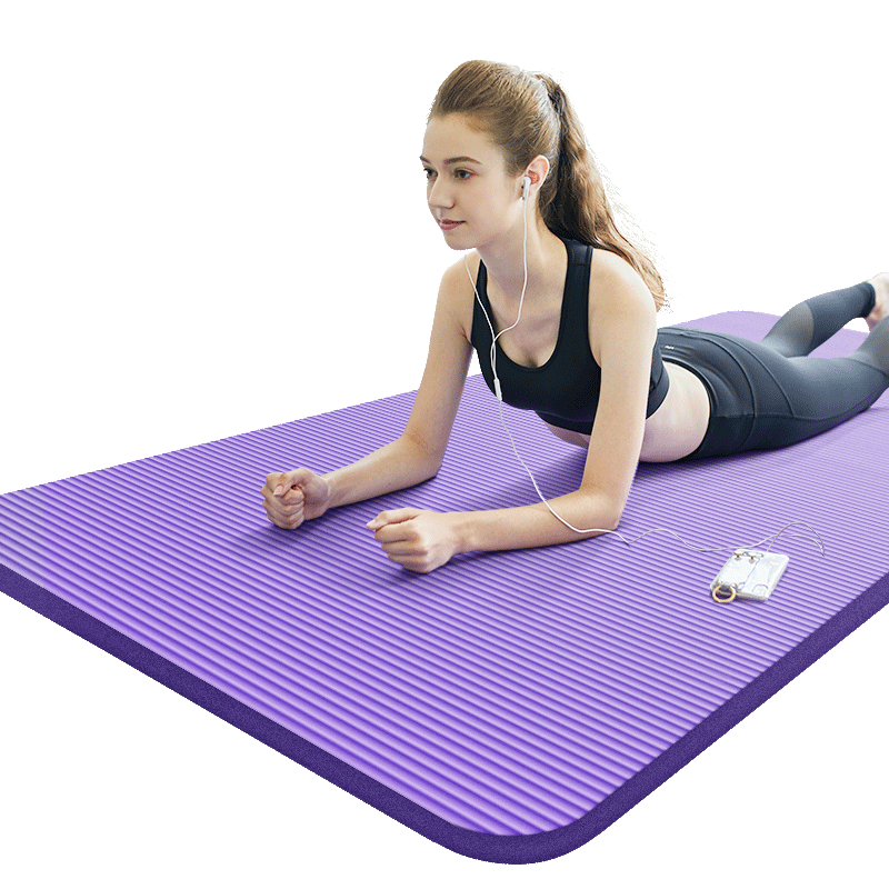 派普加厚20MM瑜伽垫初学者男女士防滑加宽加长健身瑜珈地垫子家用(派普瑜伽垫初学者男女士防滑加厚20mm)