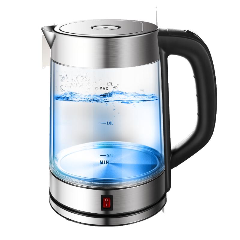 德国QUEENSENSE玻璃电热水壶保温一体透明烧水壶家用自动断电防烫