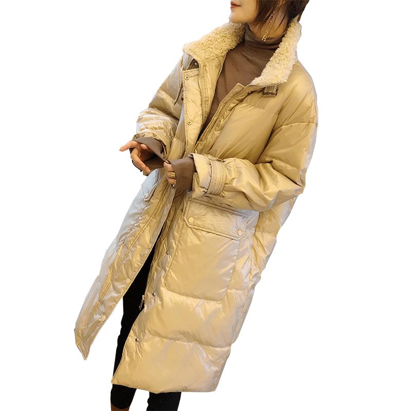欧洲站冬装中长款轻薄羽绒服