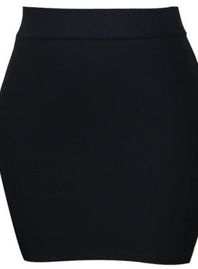 秋冬新款包臀裙半身裙高腰弹力一步裙短裙女职业包裙黑色工作裙子