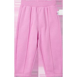 迷你巴拉巴拉嬰兒長褲女寶寶薄絨褲子2020春裝新款童裝蘿蔔褲長褲