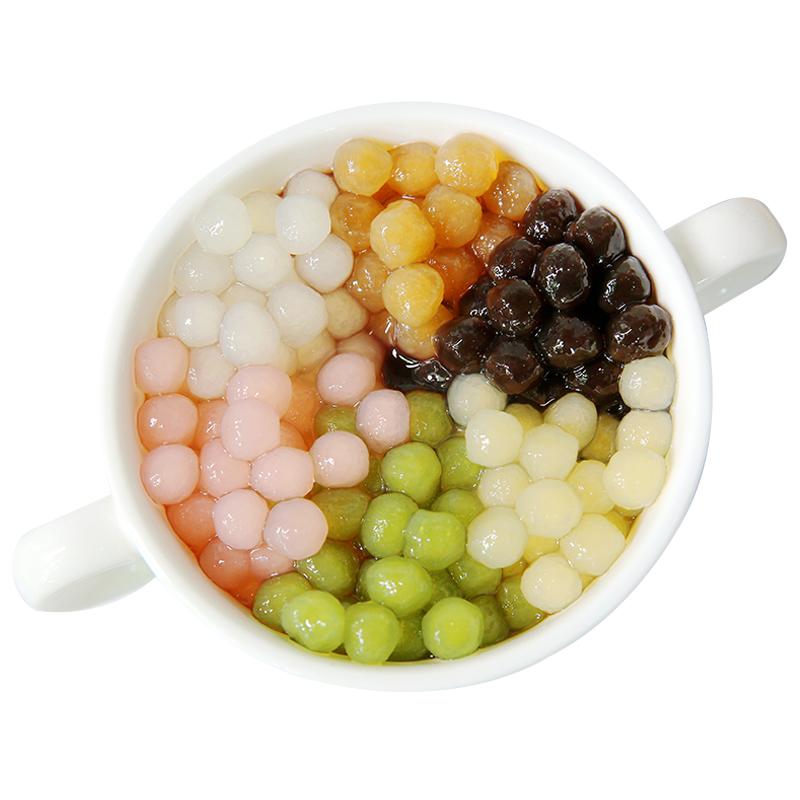 星芋黑珍珠粉圆奶茶店专用快煮黑糖波霸琥珀樱花珍珠豆免500克煮