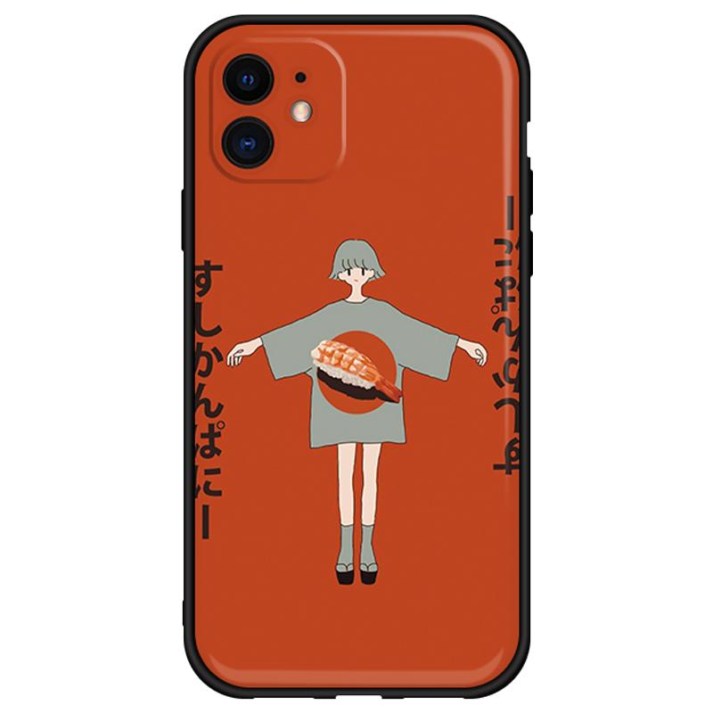 适用于苹果11手机壳寿司女孩