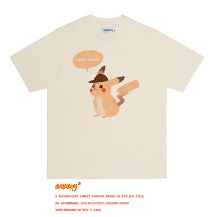 sadboy2019夏新款宝可梦系列t恤