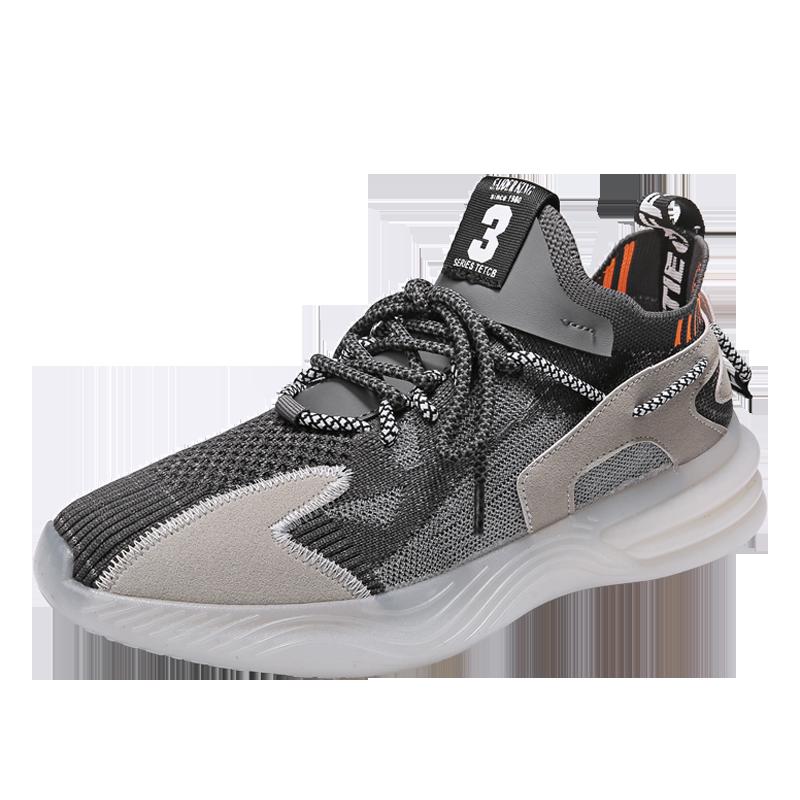KzoM2020新品四季梵斯椰子鞋透明底飞织鞋运动鞋潮鞋男老爹鞋B