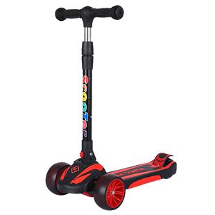 儿童1-23-6轮可折叠初学者滑板车