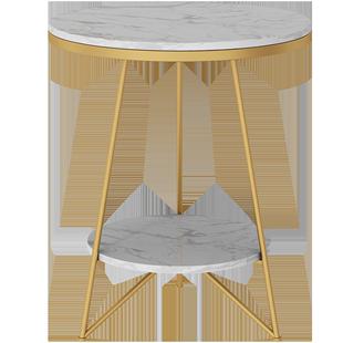 岩石北歐大理石邊幾現代輕奢小茶几角幾客廳沙發卧室牀頭櫃小圓桌