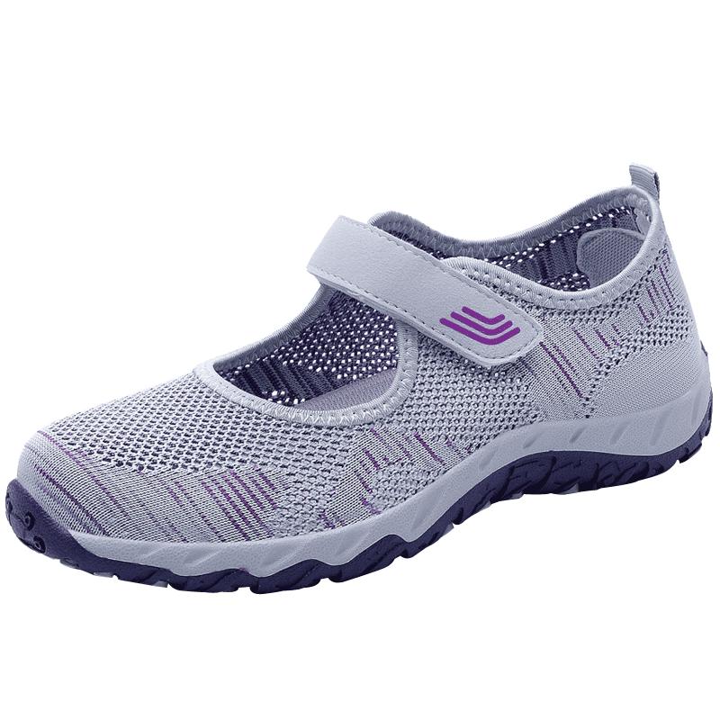 春季中老年健步鞋软底妈妈鞋透气网鞋老人鞋子女鞋运动舞蹈鞋凉鞋