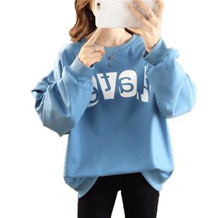 長袖T恤少女春秋裝2020新款初中高中學生衞衣女韓版寬鬆休閒外套