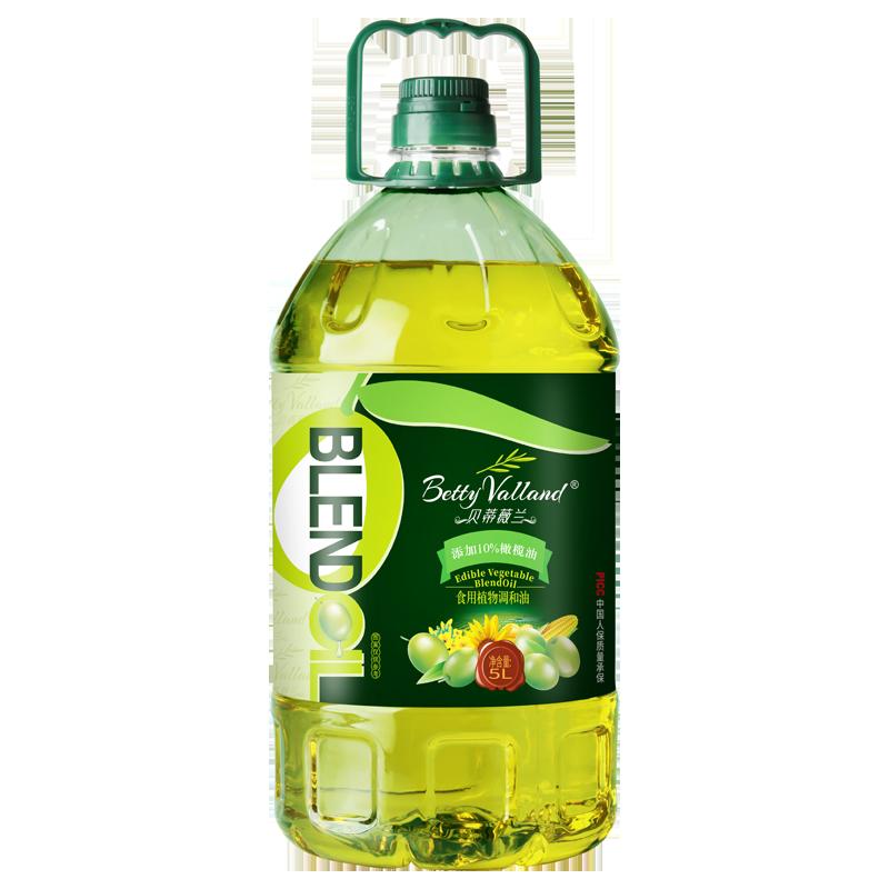 贝蒂薇兰10%橄榄油食用油非转基因色拉油调和油植物油家庭大桶5L