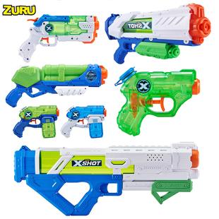 zuru兒童水槍玩具呲泚吸打噴水仗抽拉式大容量大號神器次678-3歲5