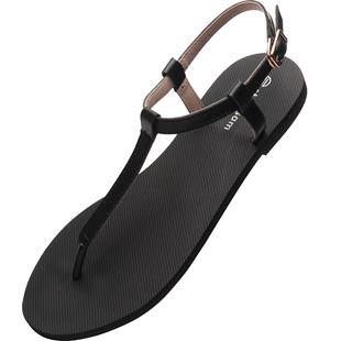 涼鞋2019新款百搭仙女風夏季時尚平底綁帶鉚釘羅馬涼鞋女士ins潮