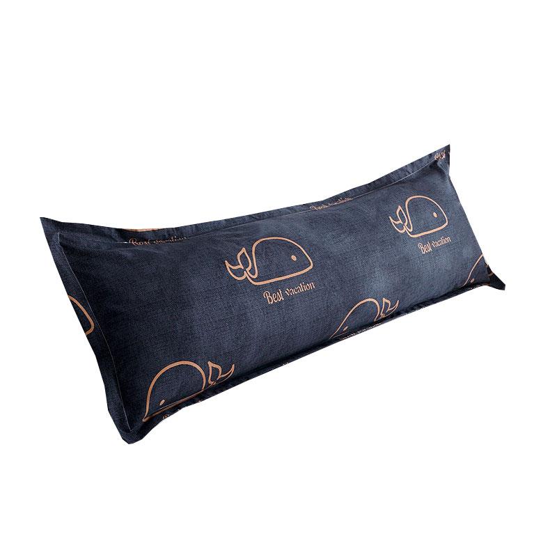 冲量 双人枕套枕头套1.2/1.5m1.8米长枕套情侣婚庆枕芯套1米2长款