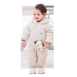 新生兒秋冬季加厚連體衣服
