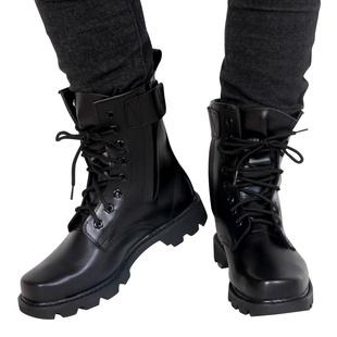 秋季新款军靴男特种兵作战靴钢头钢底马丁靴男士透气高帮靴子男靴