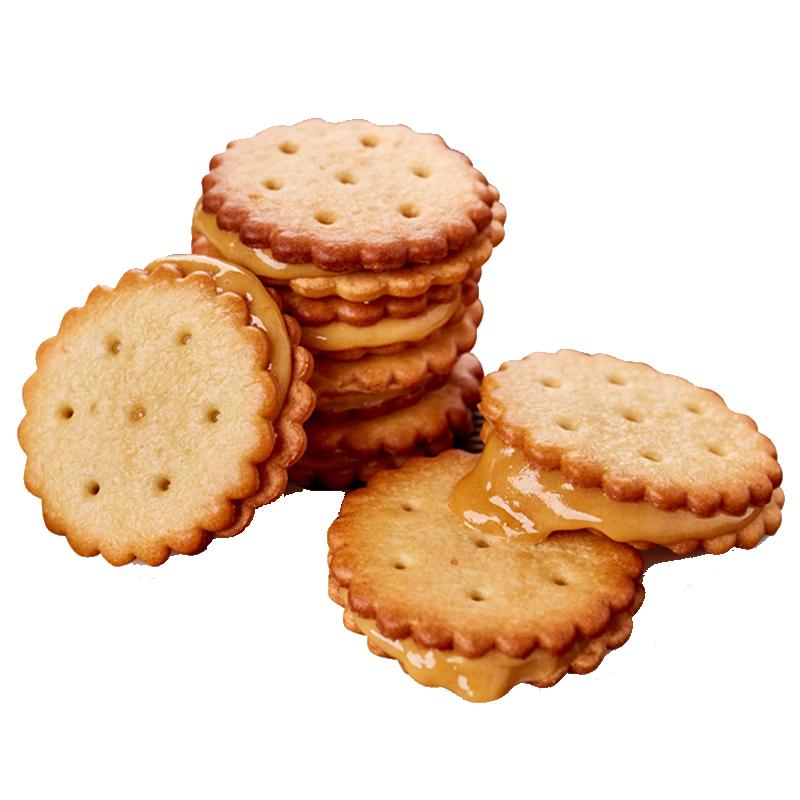 冬己饼干咸蛋黄麦芽饼零食夹心饼干麦芽糖饼干咸蛋黄饼干网红零食