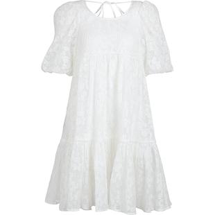 UR2020夏季新品女裝仙氣減齡蕾絲寬鬆圓領連衣裙WH21S7BN2001